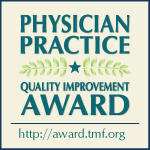 Texas Physician Practice Quality Improvement Award button.